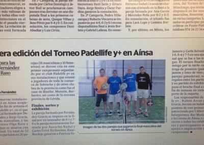 Primera edición Torneo Padel y+