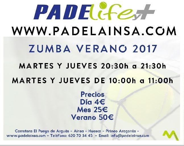 Zumba Verano 2017 en Padelife y+