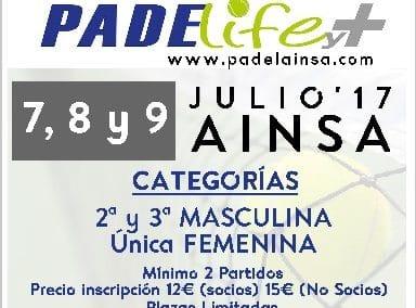 Torneo Padel Verano 2017 en Padelife y+